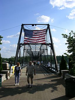 Walnut Street Bridge pedestrians