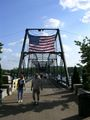Walnut Street Bridge pedestrians.JPG