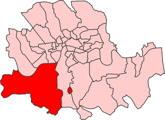 Wandsworth District (Metropolis) - Wandsworth District within the Metropolis