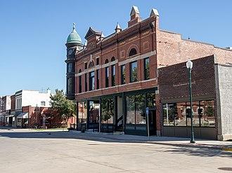 Greenfield, Iowa - Image: Warren Opera House Block Greenfield IA
