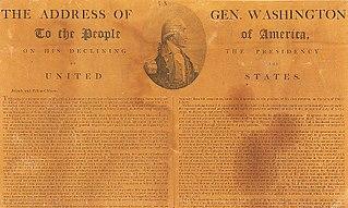 George Washingtons Farewell Address letter written by George Washington
