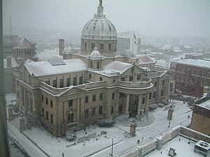 Washington County, Pennsylvania - The Washington County Courthouse during the winter