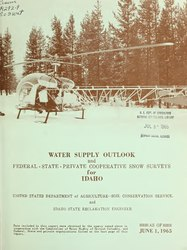 Water supply outlook and Federal-State-private cooperative snow surveys for Idaho
