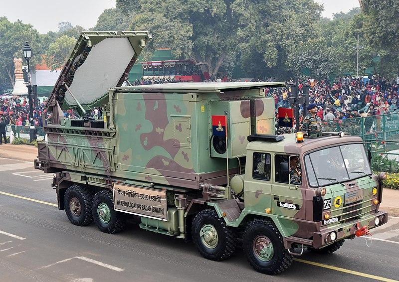 Weapon Locating Swathi Radar