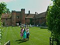 Wedding party in the courtyard of Leez Priory - geograph.org.uk - 407421.jpg