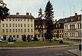 Weimar Kegelplatz with Schweitzer Memorial and Albert-Schweitzer-Begegnungsstätte, DDR Aug 1989.jpg