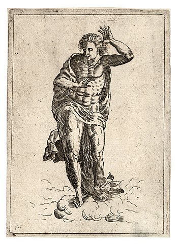 Wenceslas Hollar - Jesus in Michelangelo's 'La...