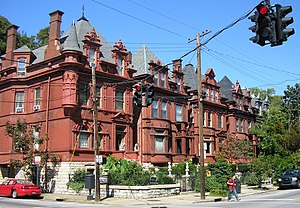 Old Louisville - Werne's Row at the corner of 4th and Hill