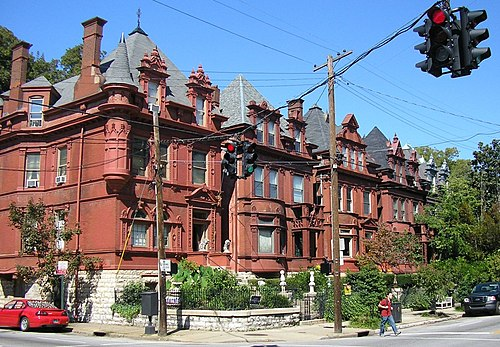 Old Louisville is the largest Victorian Historic neighborhood in the United States. Werne's Row 4th and Hill, Old Louisville.jpg