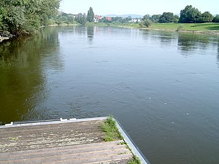Weser river in north-western Germany