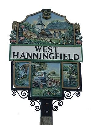 West Hanningfield - Image: West hanningfield sign