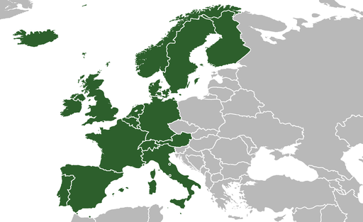 Western Europe (Robinson projection)