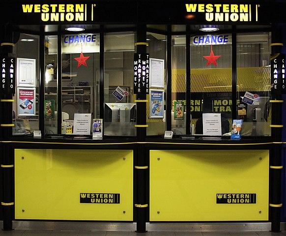 File western union schalter am hauptbahnhof muenchen g