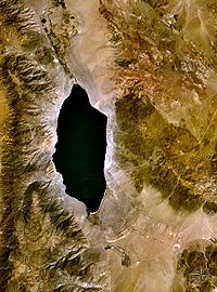 Vue satellitaire du lac Walker.