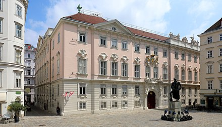Austrian Constitutional Court (Verfassungsgerichtshof VfGH), the oldest constitutional court in the world, resided in the building of the former Böhmische Hofkanzlei (English: Bohemian Court Chancellery), Judenplatz 11 in Vienna until 2012.