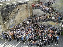 Group photo of Wikimedia Conference 2017. I'm in the front!