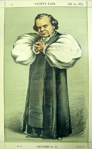 Samuel Wilberforce - Cartoon of Wilberforce in the 1860 Huxley-Wilberforce debate, published in Vanity Fair, 1869