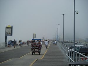 A view of the boardwalk in Wildwood, New Jerse...