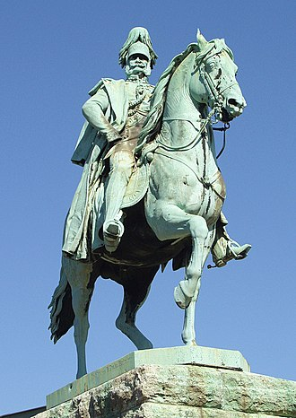 Emperor William monuments - Monument on the Hohenzollern Bridge in Cologne