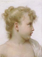 Étude de petite fille (visage de profil)