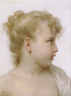 BOUGUEREAU William-Adolphe Study : head of a little girl, 1888