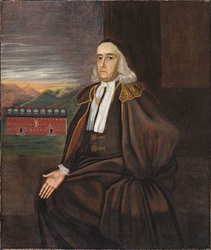 William Stoughton (judge) - Portrait by an unknown artist, c. 1700
