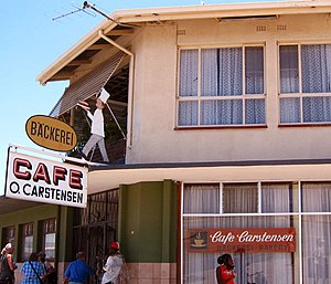 Namibian cuisine - The now closed Cafe Carstensen in Otjiwarongo, the capital of Otjozondjupa Region in Namibia