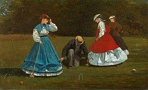 Winslow Homer: Croquet, 1864