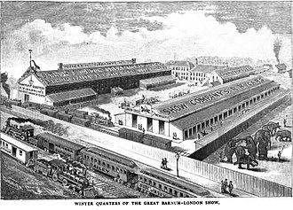 P. T. Barnum - Winter Quarters of the Great Barnum-London Show before 1886