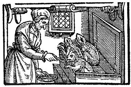 A late-sixteenth-century illustration of a witch feeding her familiars from England. A number of historians believe that the familiar spirit is a pre-Christian idea. - Witch trials in the early modern period