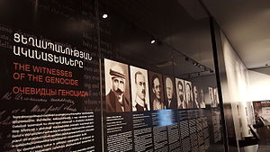 Witnesses and testimonies of the Armenian Genocide - An exhibition dedicated to the witnesses of the genocide at the genocide museum in Yerevan.