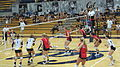 Women's volleyball, Fresno State at Cal 2010-09-11 7.JPG