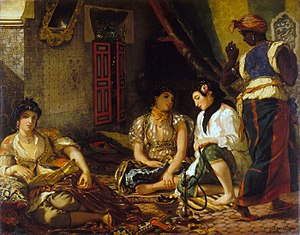 Eugène Delacroix, The Women of Algiers, 1834, the Louvre, Paris