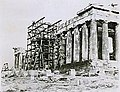 Work goes on the retouching of the world's most classic structure, the Parthenon top.jpg