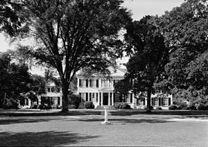 Wye House - Wye House mansion, seen from the front lawn