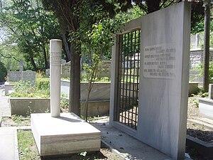 Yahya Kemal Beyatlı - Grave in Aşiyan Asri Cemetery