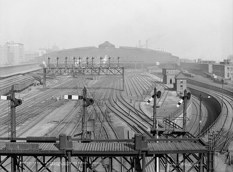 Yard and tracks, South Terminal Station, Boston, Mass. (crop)