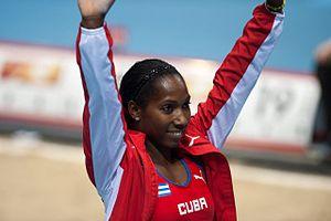 2014 IAAF World Indoor Championships – Women's pole vault - Yarisley Silva, the winner of the event.