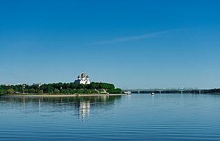 Volga River in Russia; the longest river in Europe