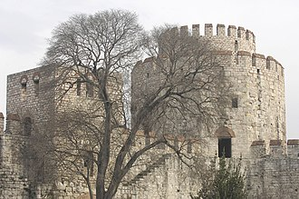 Yedikule Fortress - A view of some of the towers of the fortress.