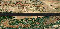 The yellow river as depicted in Qing Dynasty Chinese landscape painting