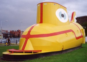 Yellow Submarine (song) - The Yellow Submarine sculpture (1984).