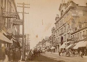 F. W. Micklethwaite - Photograph of Yonge Street by F.W. Micklethwaite, circa 1885