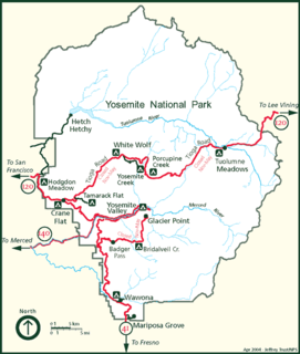 Geography of the Yosemite area