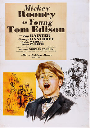 Description de l'image Young Tom Edison poster.jpg.