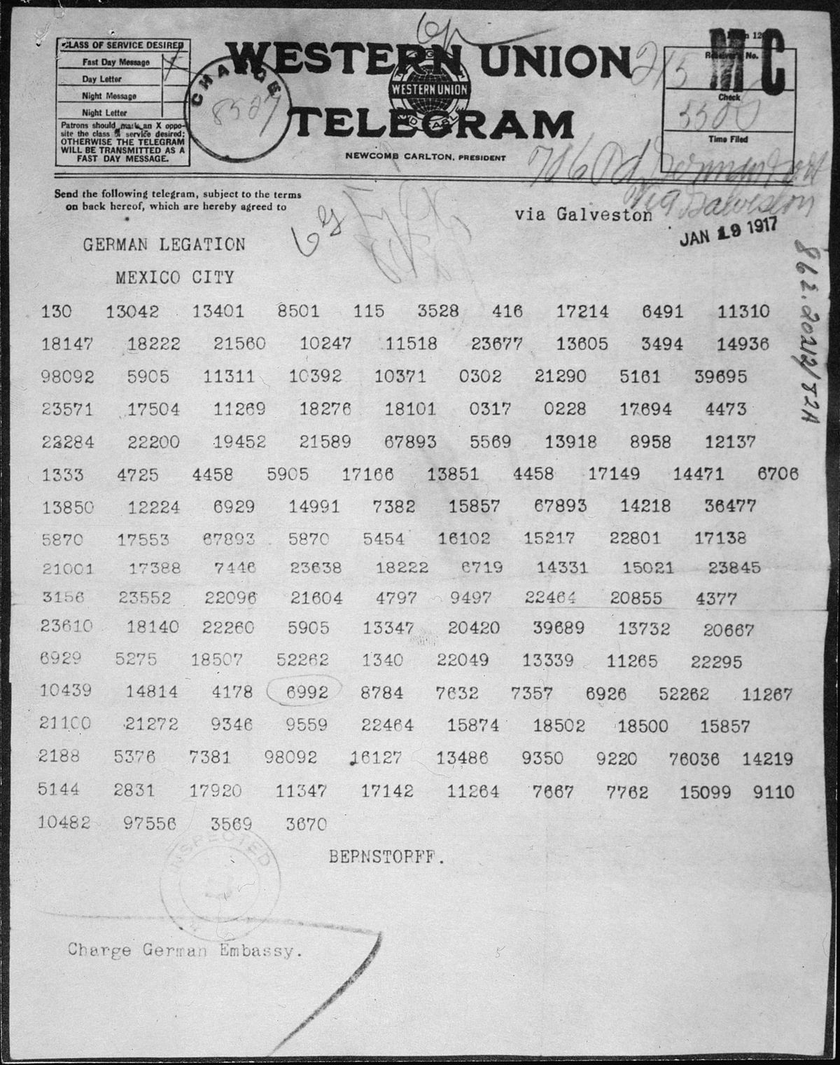 zimmermann telegram wikipedia