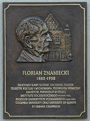 Florian Znaniecki - Florian Znaniecki plaque, Adam Mickiewicz University, Poznań, Poland