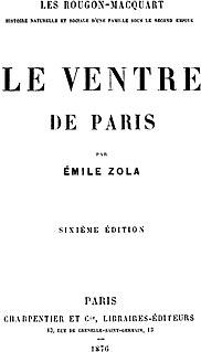 <i>Le Ventre de Paris</i> novel by Émile Zola
