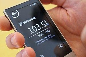 Zune HD - Image: Zune HD Radio