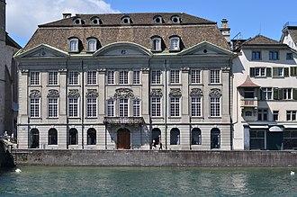 Zunfthaus zur Meisen - Eastern facade as seen from Limmatquai